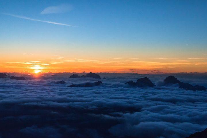 Sunset in Julian Alps | Photo: Rožle Bregar