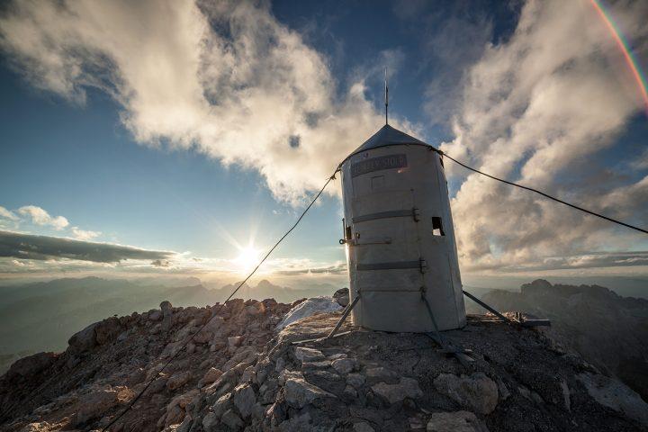 Triglav summit with the Aljaž tower | Photo: Rožle Bregar
