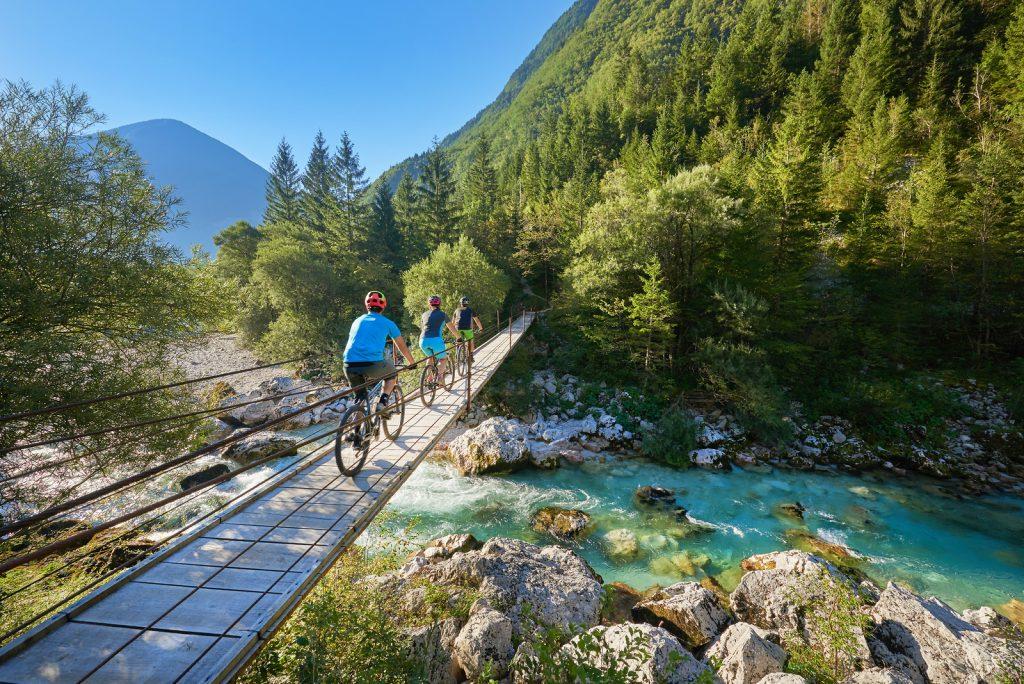 Biking in Soča valley