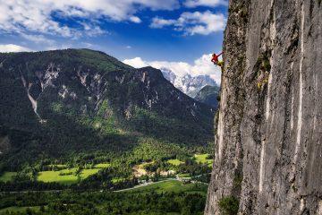 Rock climbing in Blaščeva skala   Photo: Marko Prezelj
